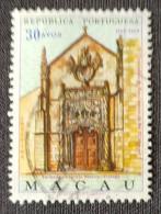 MAC5424U - V. Centenary Of The Birth Of King D. Manuel I 30 Avos Used Stamp - Macau 1969 - Macao