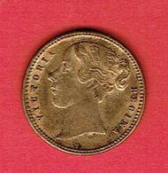 JETON DE JEUX 1837 VICTORIA REGINA TO HANOVER EN LAITON DORE Britain Game Token - Royaume-Uni