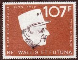 """Wallis Aerien YT 48 """" Général De Gaulle """" 1973 Neuf** - Poste Aérienne"""