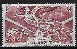 ST PIERRE  ET  MIQUELON   -    Aéro   -    1946  .  Y&T N°11* .    La Victoire  /   Chars D'assaut. - Unused Stamps