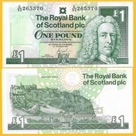 Scotland 1 Pound P-351e 2001 Royal Bank Of Scotland UNC Banknote - Schotland