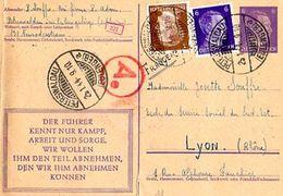 C1  01 1944 Entier Postal  Allemand D'un STO - Guerra De 1939-45