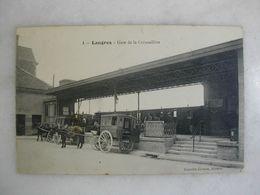 FERROVIAIRE - LANGRES - Gare De La Crémaillère (animée Avec Attelages) - Seilbahnen