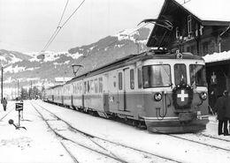 BVA - 75ème Gare De Gstaad- Montreux Oberland Bernois MOB M.O.B Ligne De Chemin De Fer Train - BE Berne