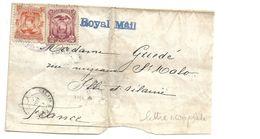Ecu097 / ECUADOR - Wappenausgabe 2 + 10 C 1884 Mit Royal Mail Nach Frankreich - Ecuador
