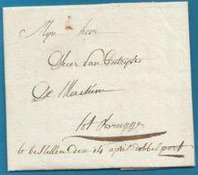 """(T-004) Belgique - Précurseur - LAC Du 13/04/1806 De Rousselaere à Brugge - """"... Te Bestellen ... Dubbelport"""" - 1794-1814 (Periodo Frances)"""
