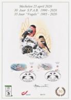A4 Souvenir 30 Jaar S.P.A.B. Met MyStamps Goudvink (oplage 175) - 1985-.. Oiseaux (Buzin)