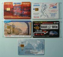 RUSSIA / USSR - Chip - ST PETERSBURG - Leningrad - Group Of 5 - Skoda, Cinema, Tequila, 200th Ann Pushkin - Mint Blister - Russie