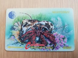 MONTSERRAT  $20,-   HERMIT CRAB    MON-7D 7CMTAD   FINE USED CARD     ** 1296 ** - Montserrat