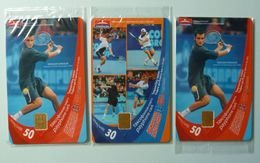 RUSSIA / USSR - Chip - ST PETERSBURG - Leningrad - Group Of 3 - Open Tennis - Mint Blister - Russie