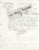 06 - Alpes-maritimes - BREIL - Facture TOSELLI - Menuiserie - 1913 - REF 150 - 1900 – 1949