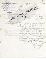 06 - Alpes-maritimes - BREIL - Facture TOSELLI - Menuiserie - 1907 - REF 150 - 1900 – 1949