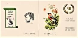 Postzegelboekje 30 Jaar S.P.A.B. Met MyStamps Goudvink (oplage 175) - 1985-.. Oiseaux (Buzin)