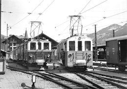 BVA - Gare Zweisimmen FZe 6/6 Et AFZe 4/4 31  - Montreux Oberland Bernois MOB M.O.B Ligne De Chemin De Fer Train - BE Bern