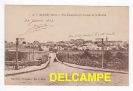 DF / MAROC / MEKNÈS / VUE D'ENSEMBLE ET AVENUE DE LA MEDINA / CACHET DU PREMIER REGIMENT DE ZOUAVES / 1922 - Meknes