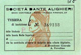 B 3428 - Tessera Dante - Organisations