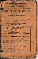 1898 MARINE NATIONALE - INSCRIPTION MARITIME - Louis CORONAT De St Laurent De La Salanque (66) - Historische Documenten