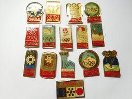 Série De 15 Pin's Différents , Coca Cola Et Les JO , Jeux Olympiques - Coca-Cola
