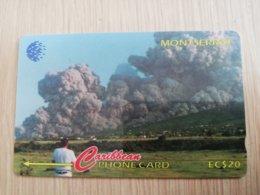 MONTSERRAT  $20,-   PYROCLASTIC FLOW-1996     MON-124B  124CMTB   FINE USED CARD     ** 1305** - Montserrat