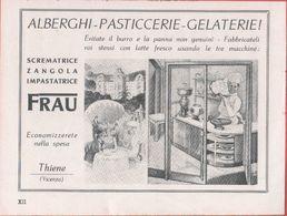 Scrematrice, Zangola, Impastatrice Frau. Pubblicità 1939 - Publicidad
