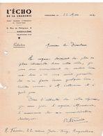 16-l'Echo De La Charente.....Angoulême..(Charente)..1942 - France