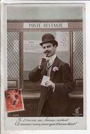 Cpa Fantaisie Homme - Poste Restante  Ke Paris 2346 - Uomini