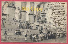 S.M.S. York Im Hafen Wilhelmshaven - Deutsche Kriegsmarine 1907 - Kriegsschiff - German Warship - Guerre