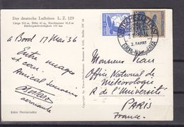 ALLEMAGNE ZEPPELIN HINDENBURG EUROPA NORDAMERICA SIGNED  BY AERONAUTE - Poste Aérienne