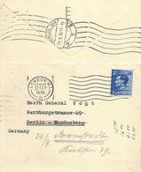 Brieflein  London - Berlin - Darmstadt           1936 - 1902-1951 (Kings)