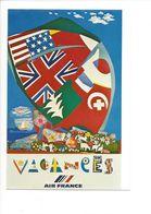 26099 - Roger Bezombes Vie Du Monde Vacances Edition Air France (format 10X15) - Autres Illustrateurs