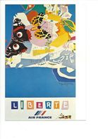 26100 - Roger Bezombes Vie Du Monde Liberté Edition Air France (format 10X15) - Autres Illustrateurs