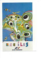 26102 - Roger Bezombes Vie Du Monde Les Îles Edition Air France (format 10X15) - Autres Illustrateurs