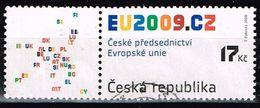 Tschechische Republik 2008,Michel# 583Zf O Czech Republic Chairmanship In The EU Council - Tchéquie