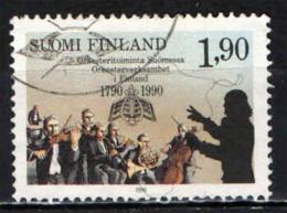 FINLANDIA - 1990 - ORCHESTRE TURKU E FINNISH DI FINLANDIA - BICENTENARIO - USATO - Oblitérés