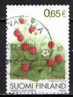FINLANDIA - 2004 - FRUTTA: FRAGOLA DI BOSCO - USATO - Oblitérés