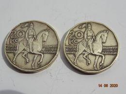 LOT DE 2 PIECES 20 COURONES TCHECOSLOVAQUIE 2002 - Czech Republic