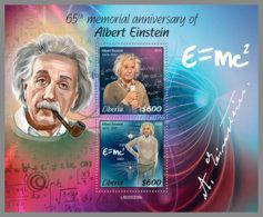 LIBERIA 2020 MNH Albert Einstein S/S - IMPERFORATED - DHQ2023 - Albert Einstein