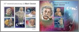 LIBERIA 2020 MNH Albert Einstein M/S+S/S - IMPERFORATED - DHQ2023 - Albert Einstein