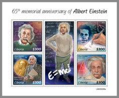 LIBERIA 2020 MNH Albert Einstein M/S - IMPERFORATED - DHQ2023 - Albert Einstein
