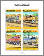 MOZAMBIQUE 2020 MNH African Trains Afrikanische Eisenbahnen Trains Africains M/S - OFFICIAL ISSUE - DHQ2023 - Trains
