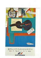 26108 - Roger Bezombes Vie Du Monde Joie Festival De La Vie Edition Air France (format 10X15) - Autres Illustrateurs