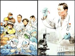 China ANTI COVID-19 Postcards: Expectance.  Set Of 2 - Maladies