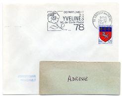 YVELINES - Dépt N° 78 = CROISSY Sur SEINE 1967 = FLAMME Codée = SECAP  ' N° De CODE POSTAL / PENSEZ-Y ' - Postleitzahl
