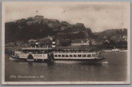 Koblenz - S/w Ehrenbreitstein 4   Mit Schiff Ausflugsdampfer Kaiser Wilhelm - Koblenz