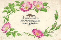 Carte Postale Ancienne Fantaisie - 1er Avril - Poissons -GAuffrée - 1 De April (pescado De Abril)