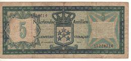 NETHERLANDS ANTILLES   5 Gulden   P8a   1967 - Nederlandse Antillen (...-1986)