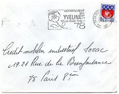 YVELINES - Dépt N° 78 = LA CELLE ST CLOUD 1968 = FLAMME Codée = SECAP  ' N° De CODE POSTAL / PENSEZ-Y ' - Postleitzahl