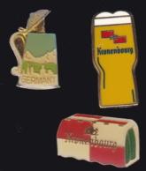 65514-Lot De 3 Pin's.Chope De Bière.Kronembourg. - Bière