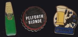 65517-Lot De 3 Pin's.. Bière.Boisson. - Bière