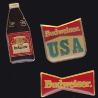 65516-Lot De 3 Pin's.. Bière.Boisson.Budweiser. - Bière